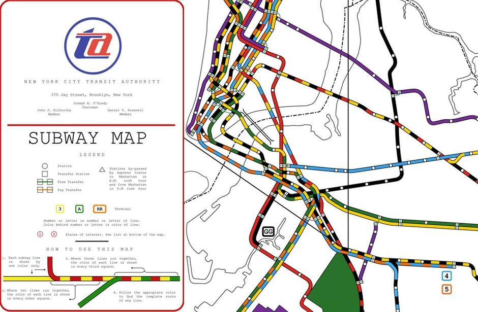 Nyc Subway Map From 1964 Dave Kellam